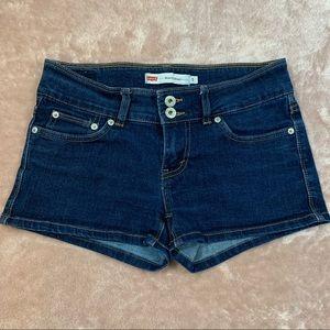 Levi's Shorty Short Dark Denim Junior Size 5